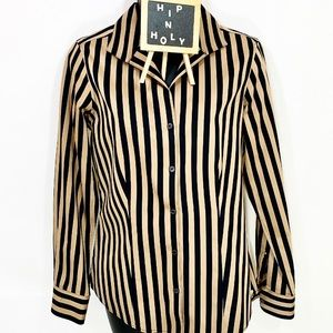 FOXCROFT HERITAGE ANNE SATEEN STRIPE BUTTON DOWN 4